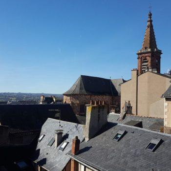 Vue sur l'église Saint-Amans Rodez